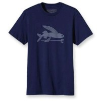 Patagonia-Men's-Flying-Fish-T-Shirt-Navy